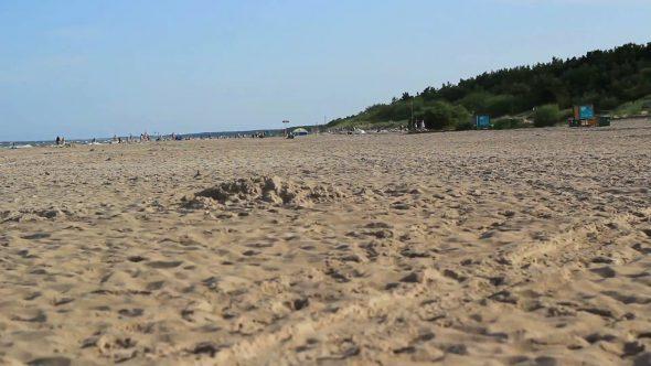 Sea Water Waves And Sandy Beach 2