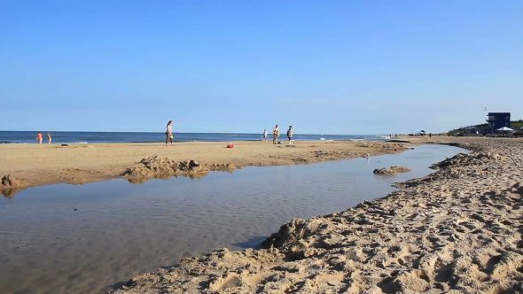 Sea Water Waves And Sandy Beach 4