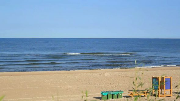 Sea Water Waves And Sandy Beach 8