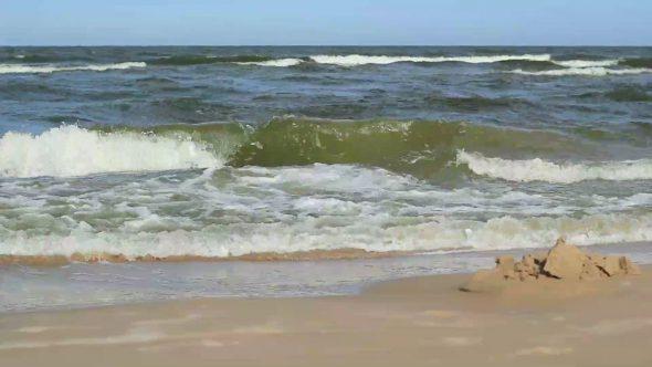 Waving Sea And Sand House