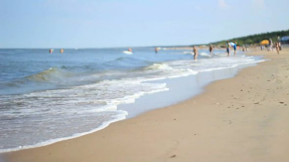 Unfocused Beach With Humans