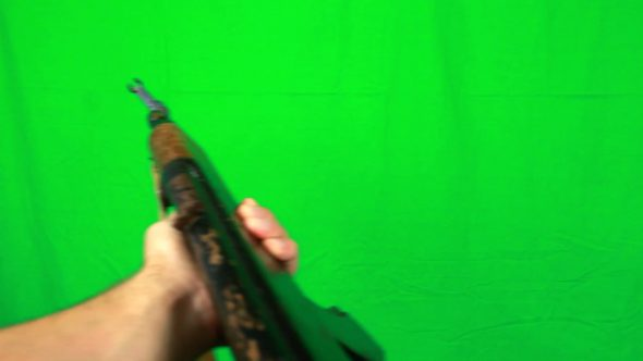 Holding Ak47 Rifle First Person Look