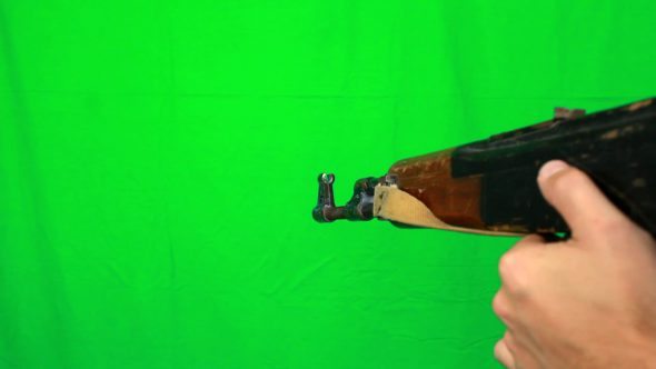 Shooting With Ak47 Close View