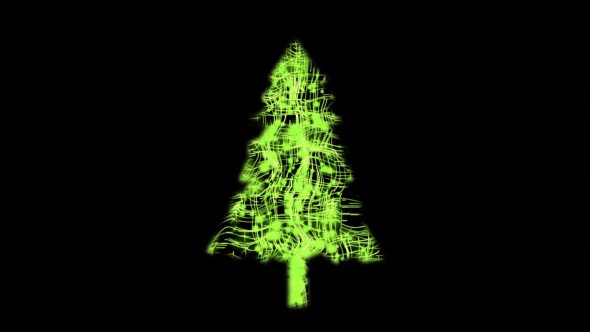 Forming Christmas Tree From Stars