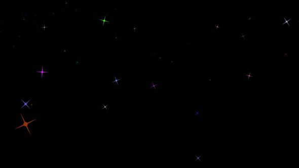 Big Shining Stars Background