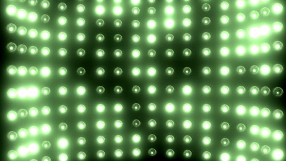 Wall Of Flashing Lights Rotation With Zoom