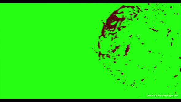 Hd Blood Burst Motion Blur Green Screen 64
