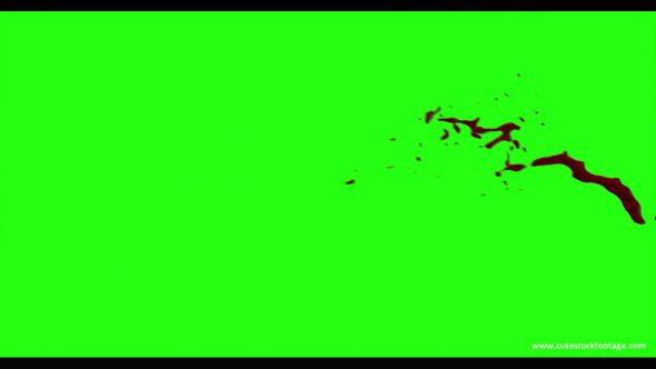 Hd Blood Burst Motion Blur Green Screen 67