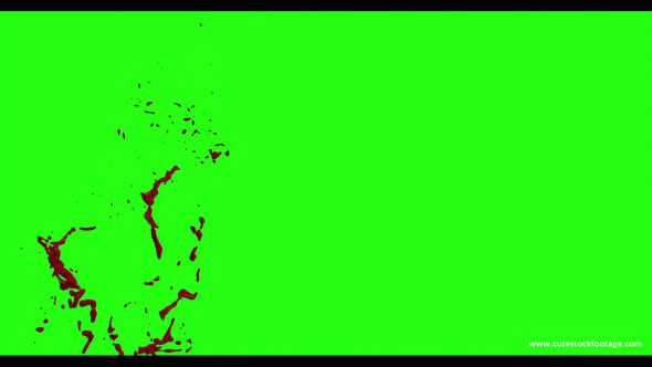 Hd Blood Burst Motion Blur Green Screen 92