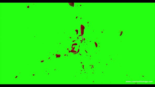 Hd Blood Burst Motion Blur Green Screen 125