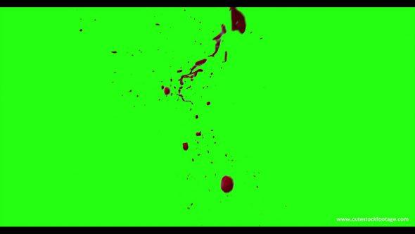 Hd Blood Burst Motion Blur Green Screen 123
