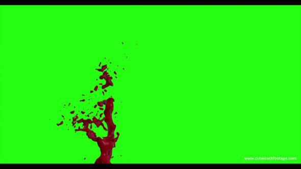 Hd Blood Burst Motion Blur Green Screen 154
