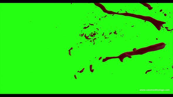 Hd Blood Burst Motion Blur Green Screen 174