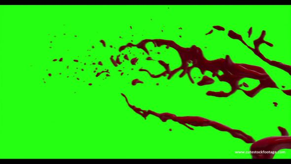 Hd Blood Burst Motion Blur Green Screen 179