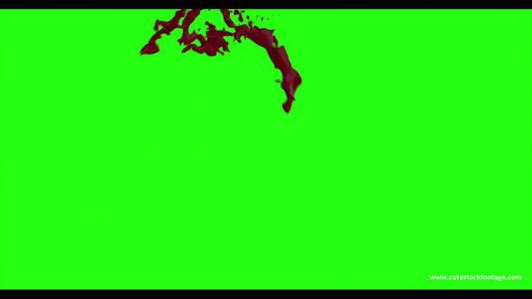 Hd Blood Burst Motion Blur Green Screen 186