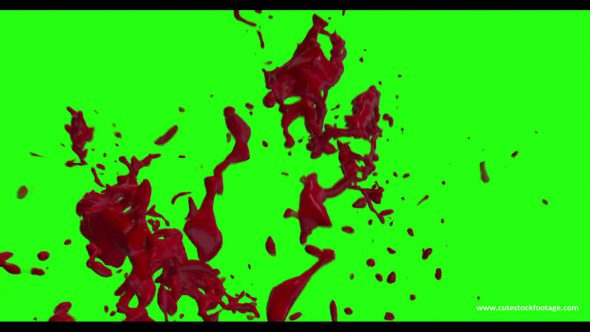 Hd Blood Burst Motion Blur Green Screen 192