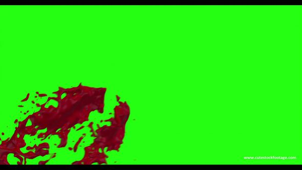 Hd Blood Burst Motion Blur Green Screen 193