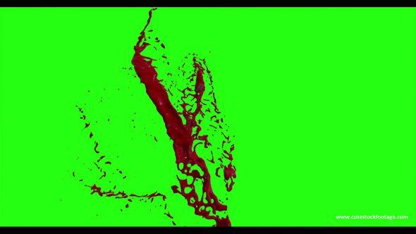 Hd Blood Burst Motion Blur Green Screen 197