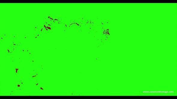 Hd Blood Burst Motion Blur Green Screen 196