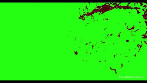 Hd Blood Burst Motion Blur Green Screen 199
