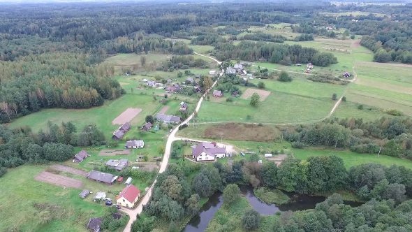 Flying Over Countryside 14