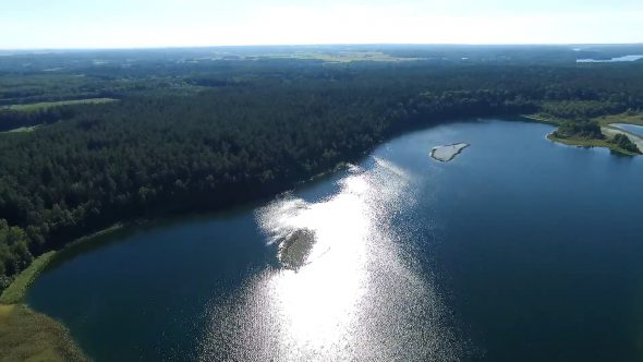Flight Over The Lake Near Forest 19