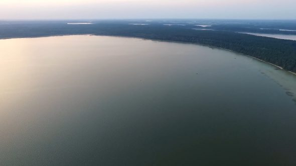 Flight Over The Lake Near Forest 43