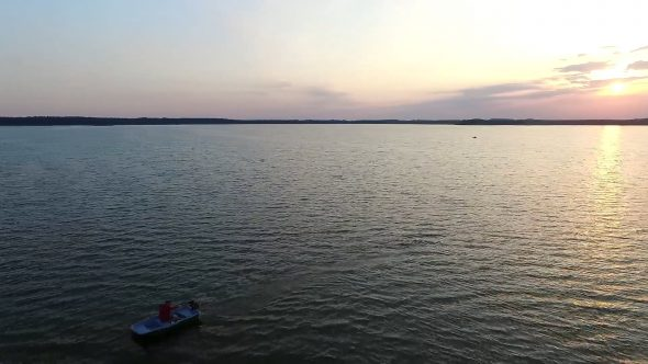 Flight Over The Lake, Sundown, Boat 1