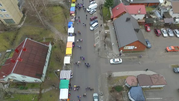 Flight Over Small Town, Fair On Street 5