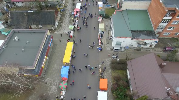 Flight Over Small Town, Fair On Street 6