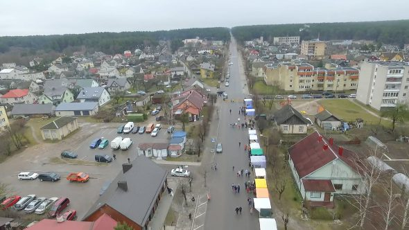 Flight Over Small Town, Fair On Street 8
