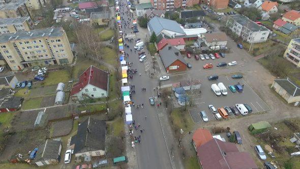 Flight Over Small Town, Fair On Street 3