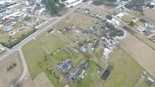 Flight Over Small Town 3
