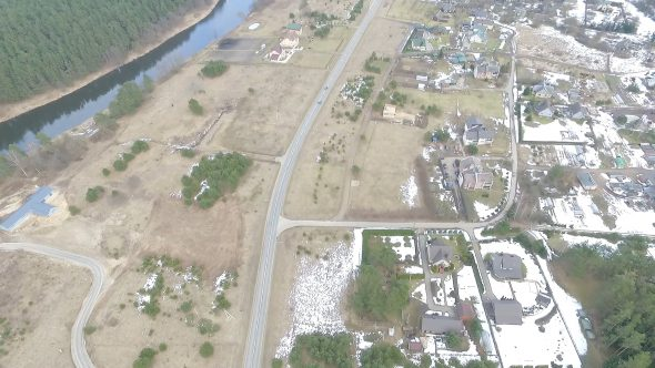 Flight Over Small Town 8