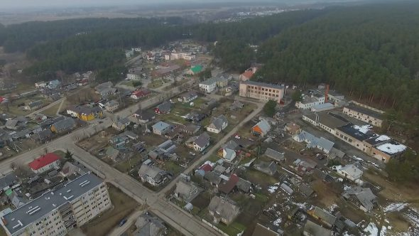 Flight Over Small Town 18