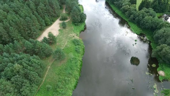 Aerial View Of River 4