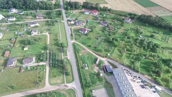Flight Over The Houses In Country 4