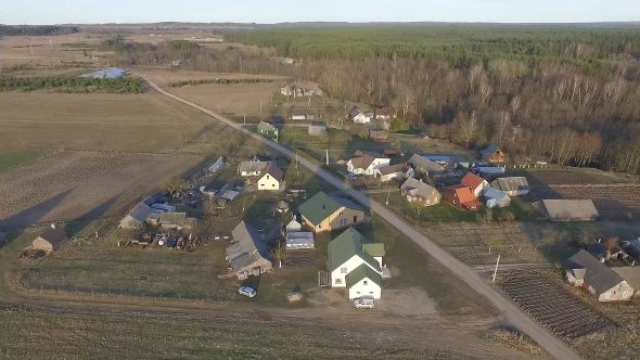 Flight Over The Houses In Country 3