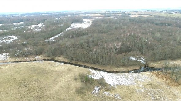 Flight Over Land Near River 2