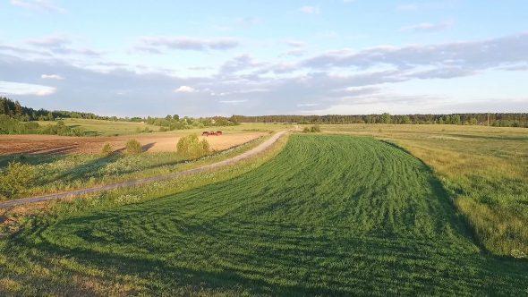 Flying Drone In A Meadow 1