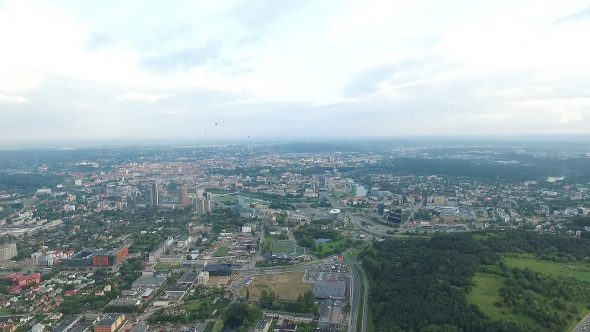 Panorama Over The City With Rotation 2