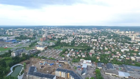 Panorama Over The City With Rotation 1