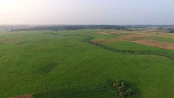 Panorama Over Country With Rotation