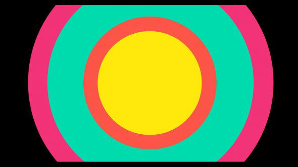 4K Circles From Middle Flat Transition