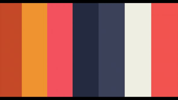 4K Multicolor Flat Lines From Left To Right