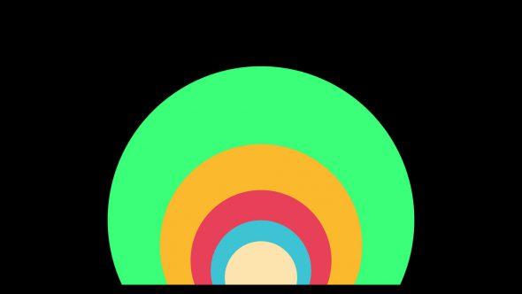 4K Super Flat Circle Transition From Bottom Center