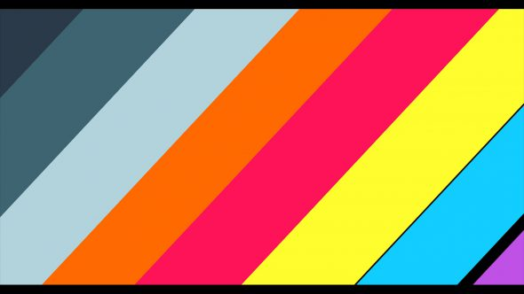 4K Super Flat Diagonal Multicolor Lines Transition