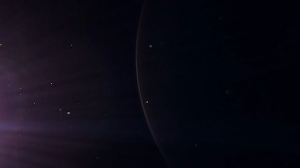 Various Pieces Of Dust Flying With Lens Flares